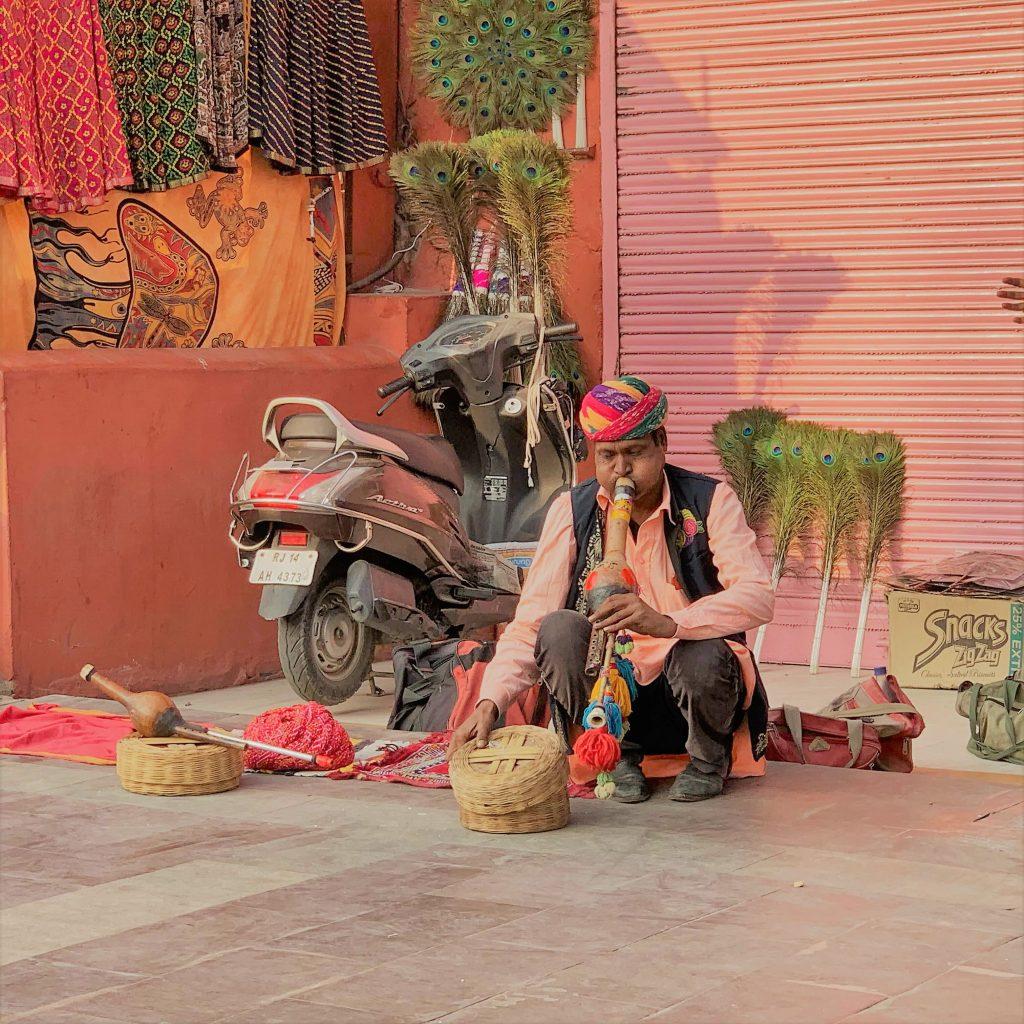 suonatore viaggio in india