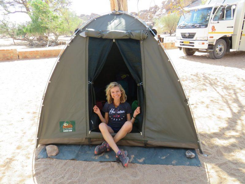 namibia in tenda viaggio di gruppo