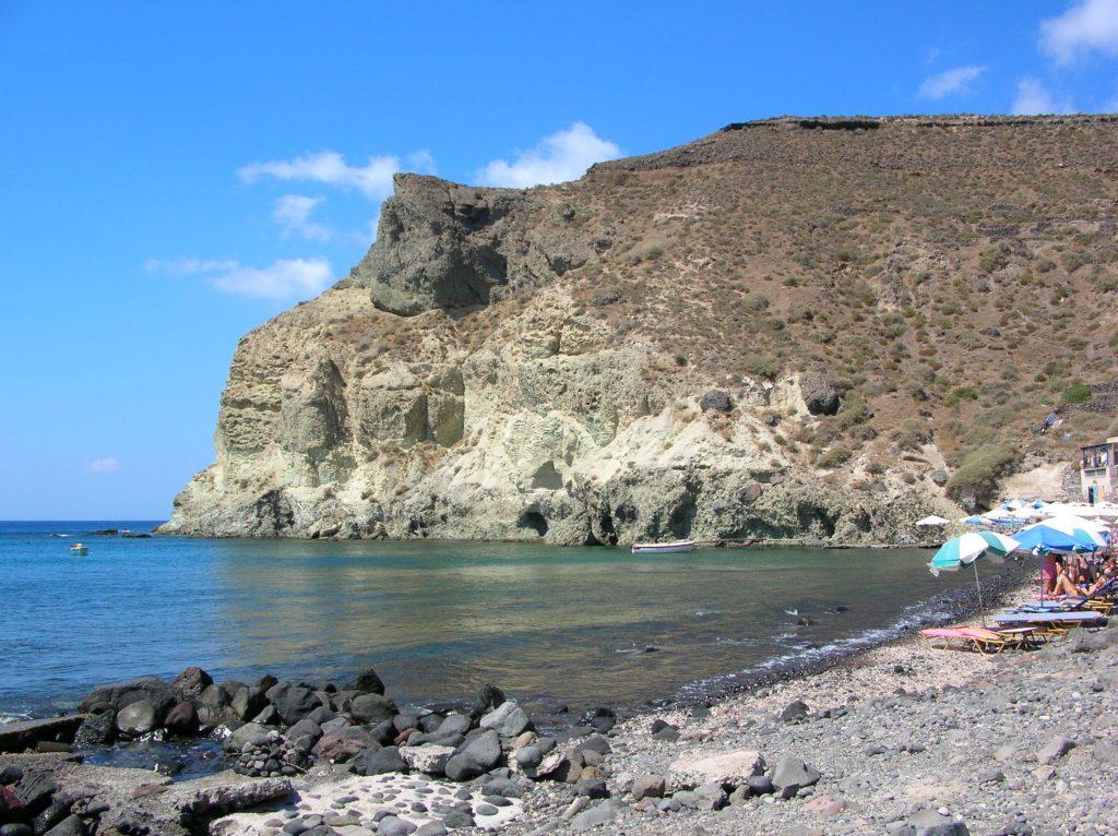 mappa spiagge santorini