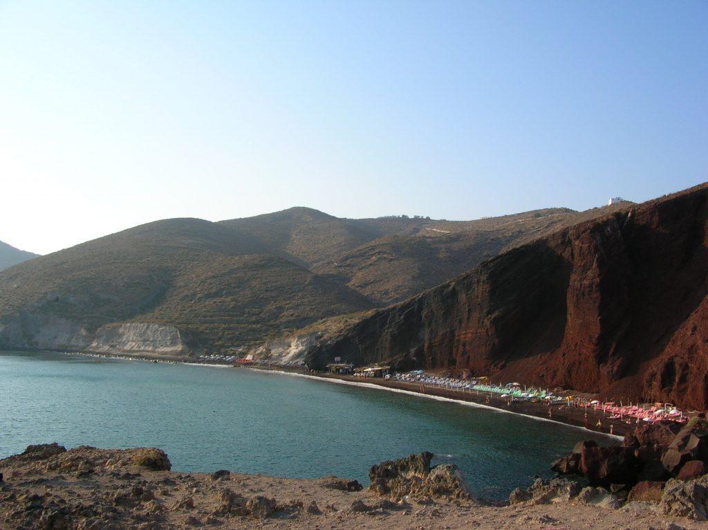 spiagge santorini red beach